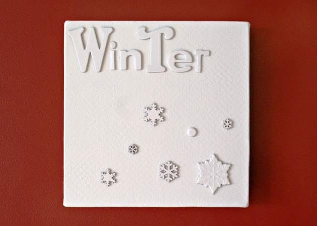 Winter Snowflakes Canvas at Jennifer Grace Creates
