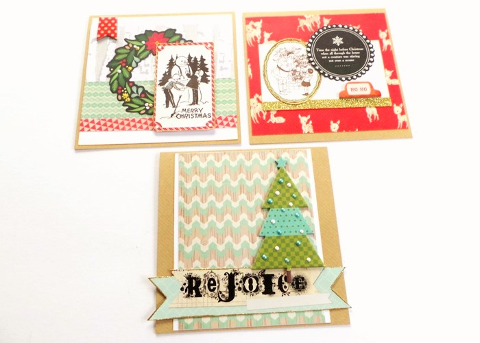 Jazzing Up Old Stash For Christmas Cards at Jennifer Grace Creates