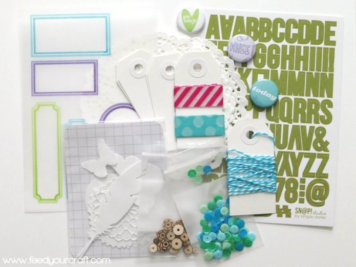Cool Color Embellishment Pack at the Feed Your Craft Etsy Shop
