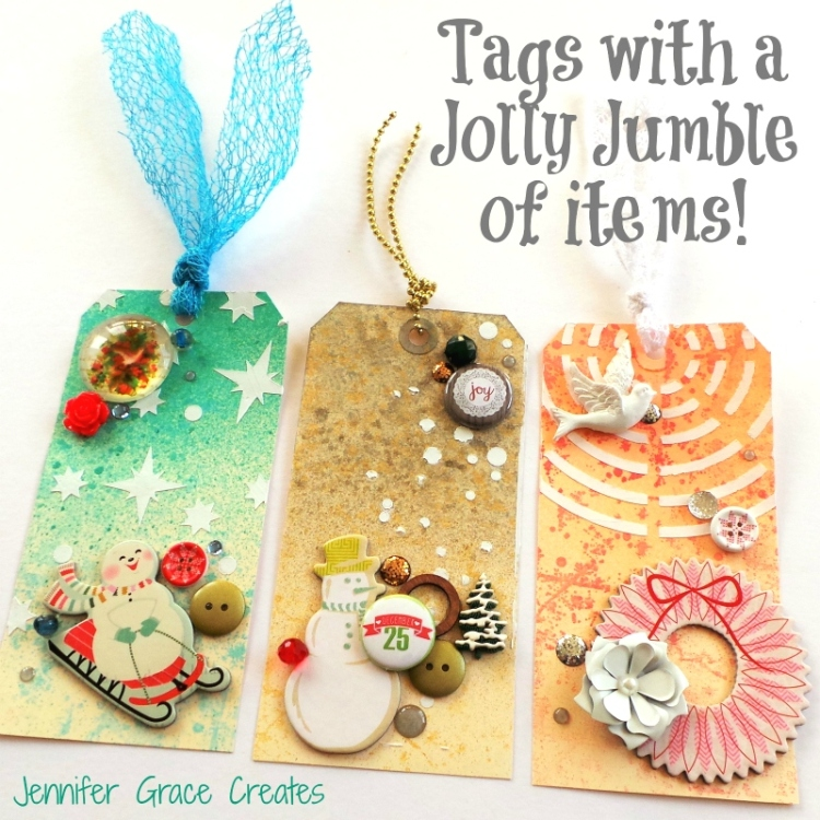 Tags With A Jolly Jumble Of Items at Jennifer Grace Creates
