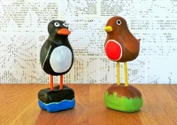 Cute Clay Penguin and Robin Tutorial at Jennifer Grace Creates