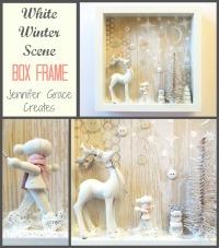 White Winter Scene Box Frame at Jennifer Grace Creates