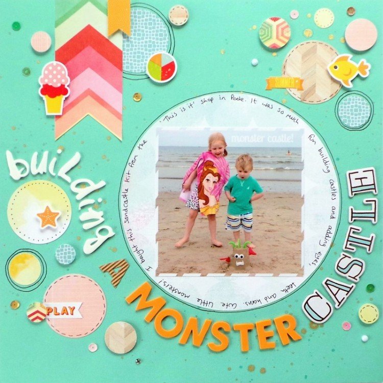 Monster Castle layout by Jennifer Grace