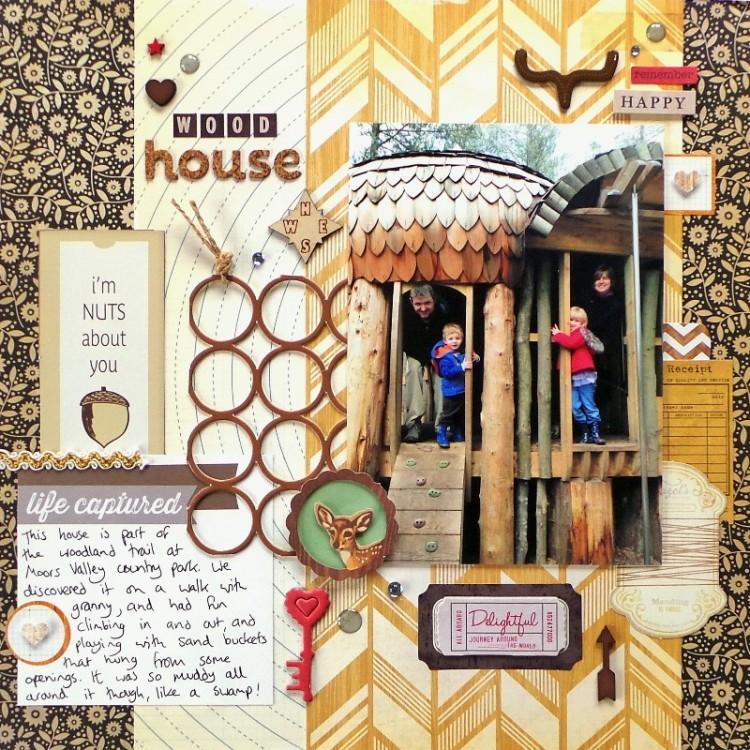 The Wood House layout by Jennifer Grace