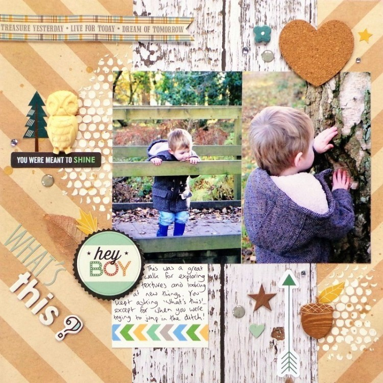 What's This layout by Jennifer Grace