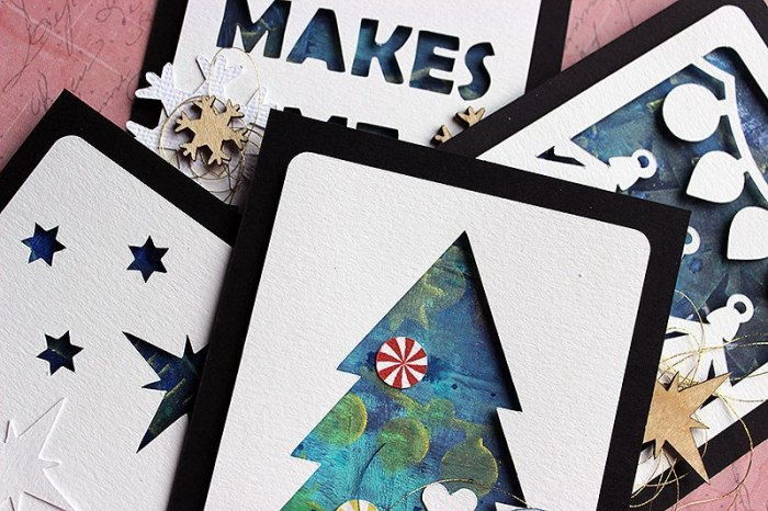 Happy Scatter Christmas Cards by Riikka Kovasin