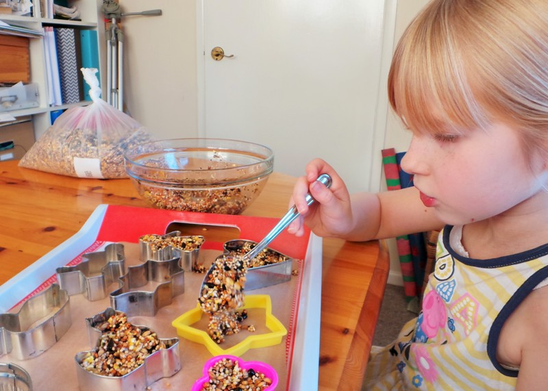 Cookie Cutter Bird Feeders Kids Craft at Jennifer Grace Creates