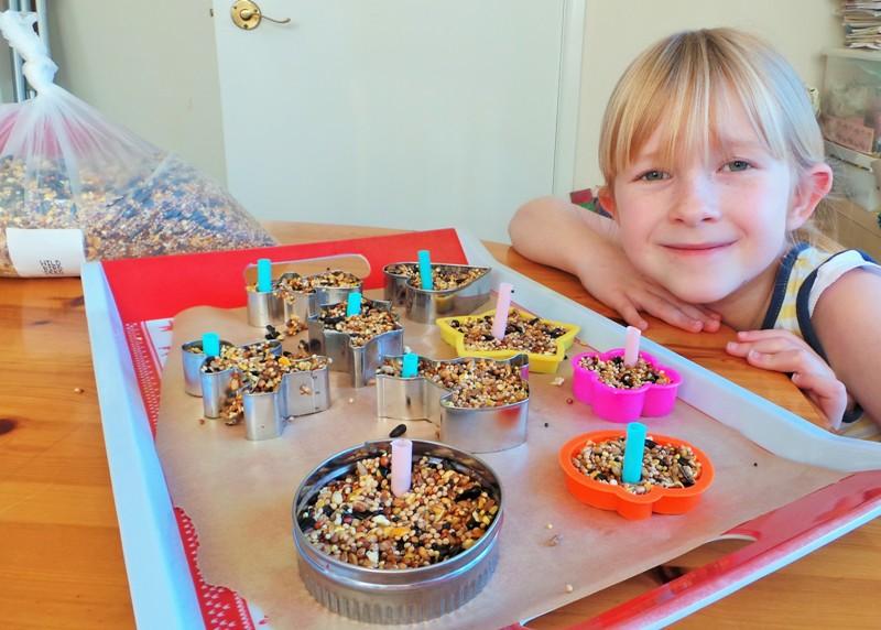 Cookie Cutter Bird Feeders Kids Craft at Jennifer Grace Creates