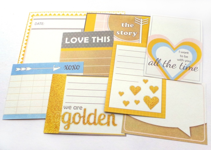 We Are Golden Journaling Cards From Happy Scatter