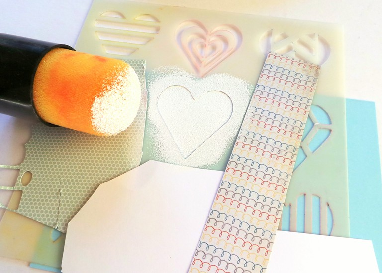 A Valentines Card using Happy Scatter Items