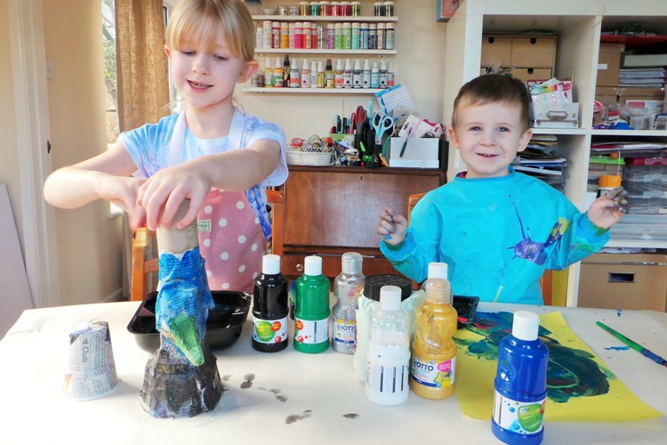 Making A Waste Wizard Kids Craft at Jennifer Grace Creates