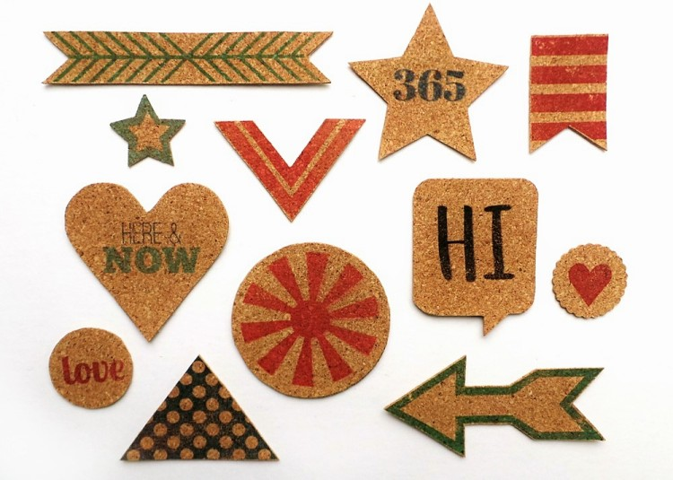 Everyday Printed Cork Stickers at the Happy Scatter Etsy Shop