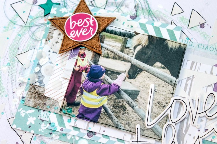 GUEST POST - Terhi Koskinen with a 'Love This' Happy Scatter layout