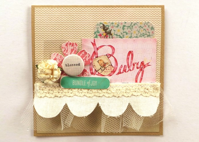 Runway Inspired Baby-Girl Card