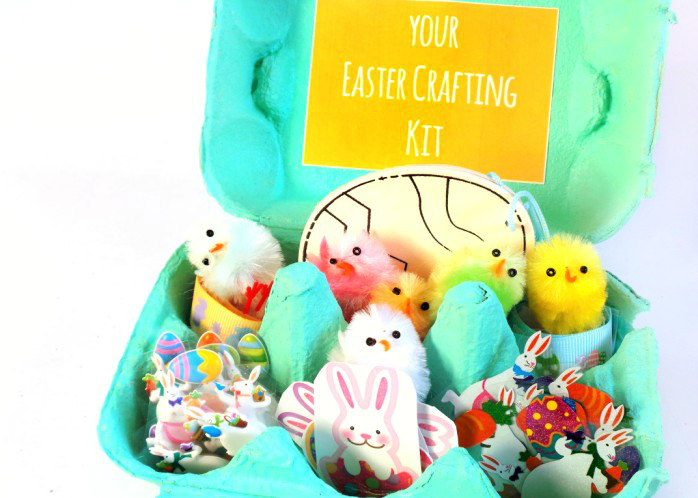 Painted Egg-Box DIY Easter Gift For Kids - No Chocolate! At Jennifer Grace Creates