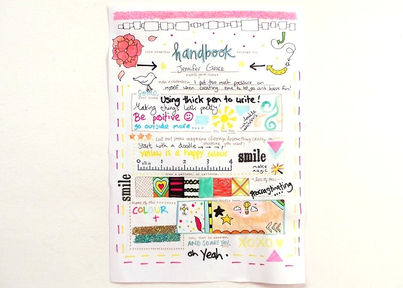 Amy Tangerine's Creative Handbook Review at Jennifer Grace Creates