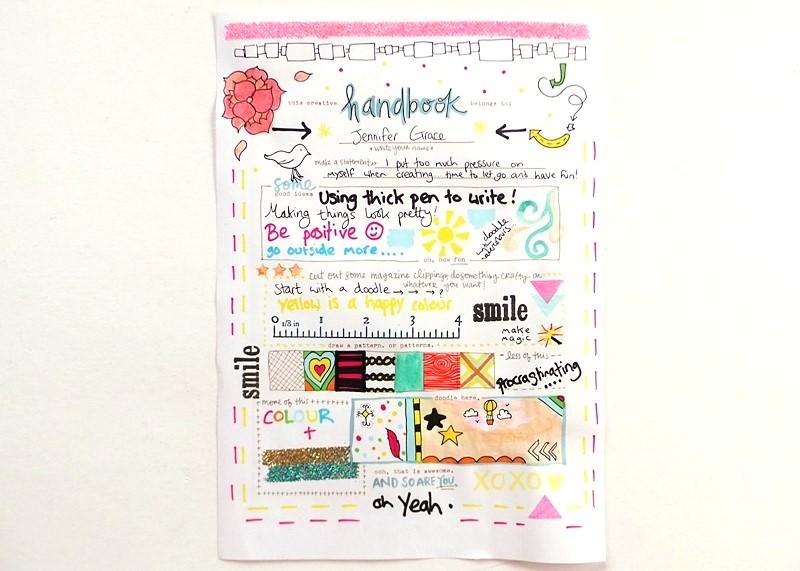 Amy Tangerine's Creative Handbook Review at Jennifer Grace Creates