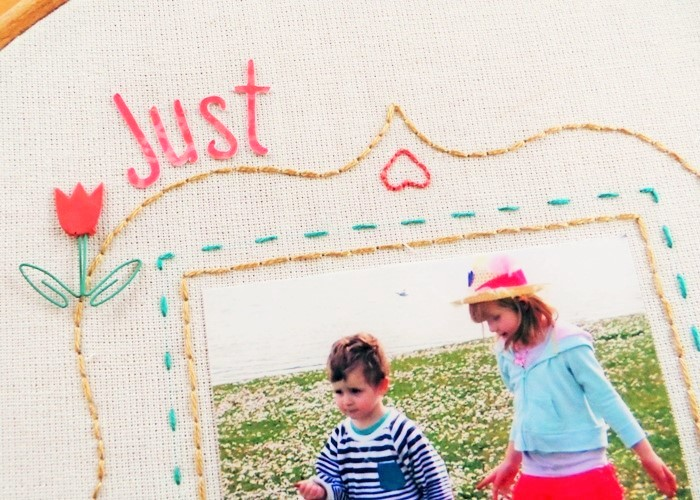 DIY Embroidery Hoop With A Photo (including a free pattern for the frame) at Jennifer Grace Creates