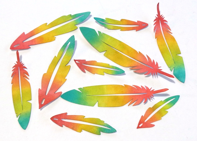 DIY Embellishments Rainbow Feathers Cut With The Cricut Explore at Jennifer Grace Creates
