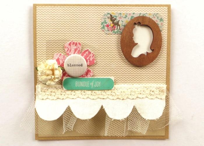Runway Inspired Baby-Girl Card