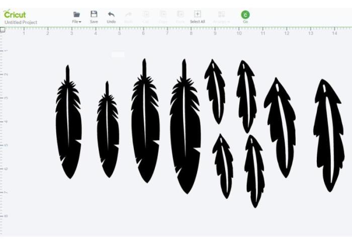 Feathers in the Cricut Explore Design Space
