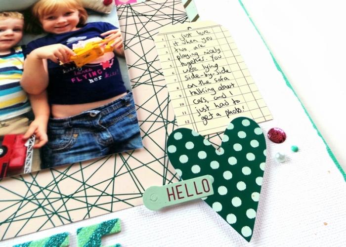 Layout Process Video using the Heidi Swapp Minc Machine, Tags, Paper, and Foil at Jennifer Grace Creates