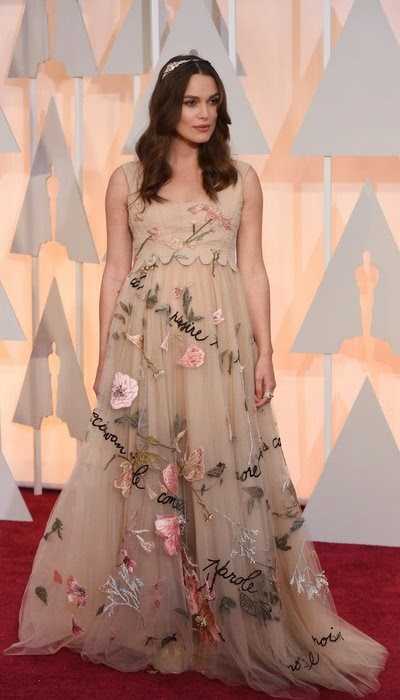 Keira Knightley at the Oscars