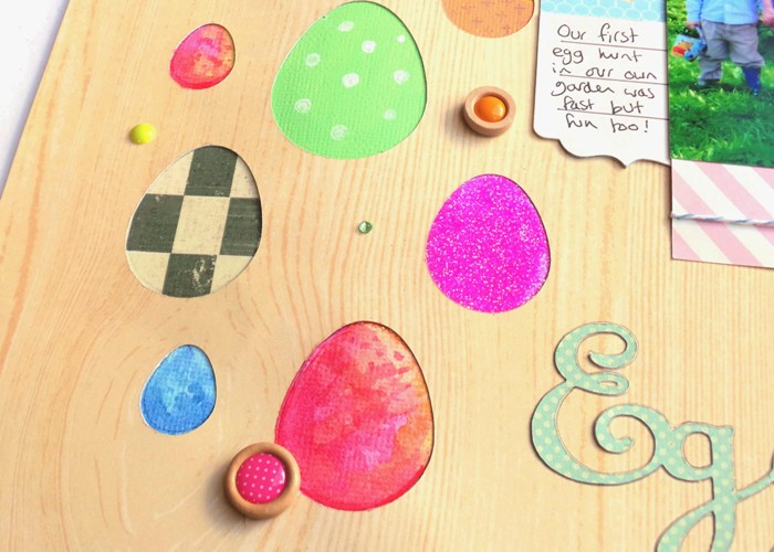 Easter Egg Hunt Layout (Details Cut On The Cricut Explore) at Jennifer Grace Creates
