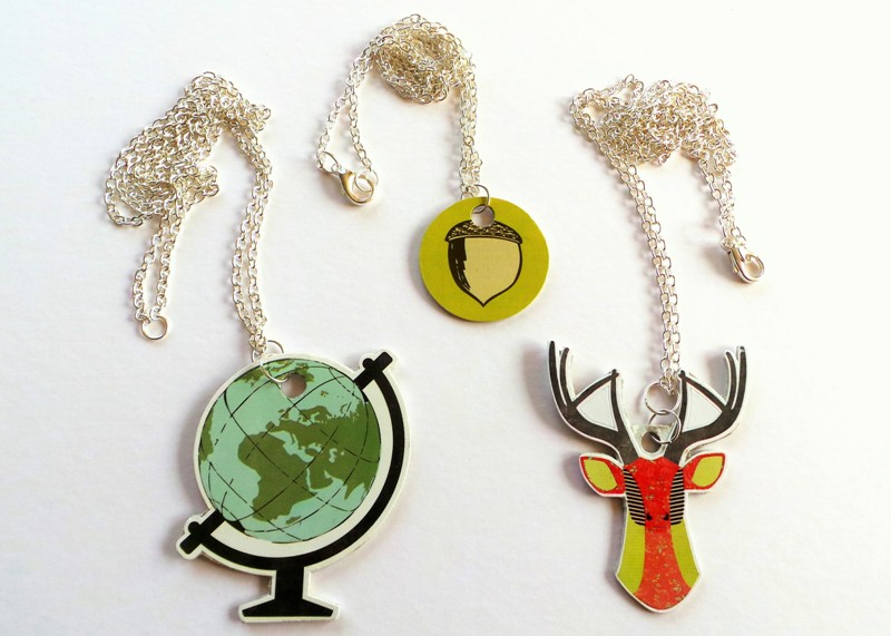 Turn Scrapbook Stickers Into Pendants at Jennifer Grace Creates