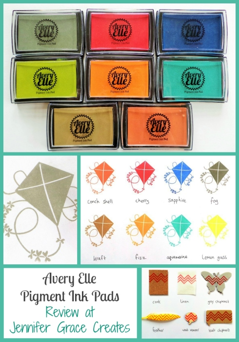 Avery Elle Pigment Ink Pads Review at Jennifer Grace Creates