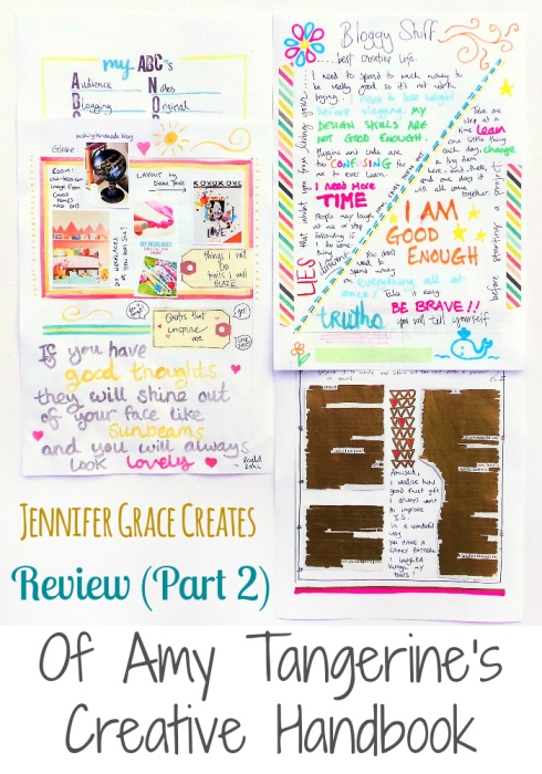 Amy Tangerine's Creative Handbook Review Part 2 at Jennifer Grace Creates