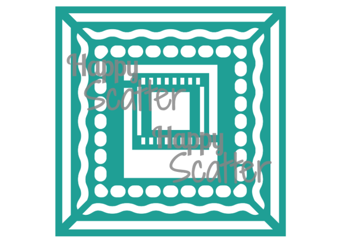 The Frameography Stencil at the Happy Scatter Etsy Shop