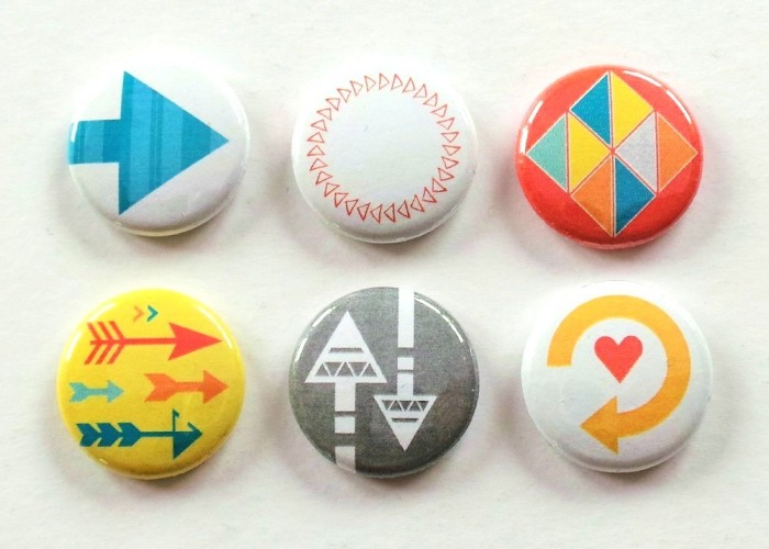 Arrows And Triangles Flair Set at the Happy Scatter Etsy Shop