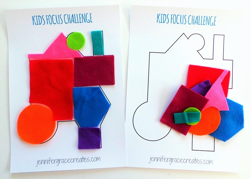 Kids Focus Challenge - A Rainy Day Indoor Activity