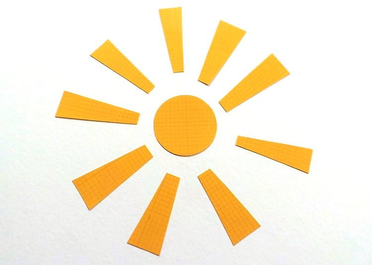 NSD Sketch & Making A Sun From Paper Scraps at Jennifer Grace Creates