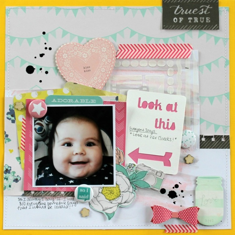Look At This layout by Melissa Vining using Happy Scatter Etsy Shop Items