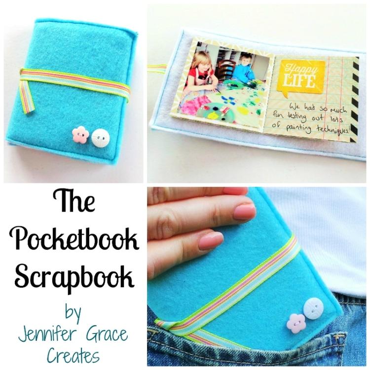 The Pocket Book Scrapbook - Stitched Mini Book at Jennifer Grace Creates