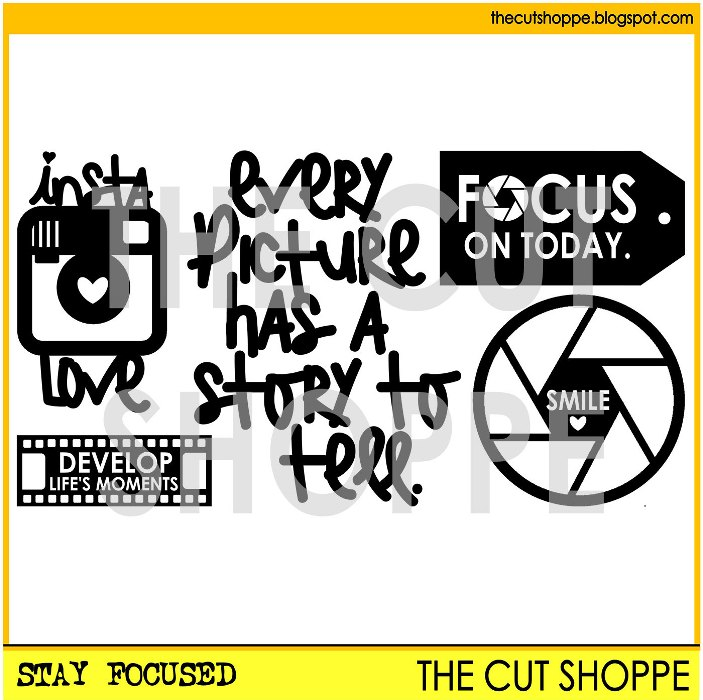 The Stay Focused Cut File at The Cut Shoppe Etsy Store