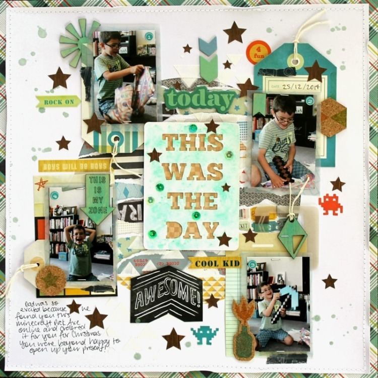 This Was The Day layout by Melissa Vining using Happy Scatter Etsy Shop Items