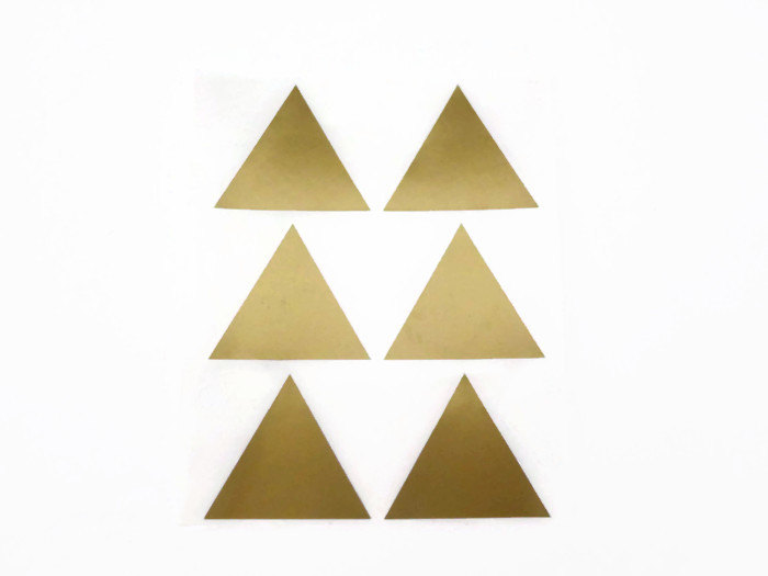 Gold Metallic Triangle Stickers at the Unwrap Colour Etsy Store