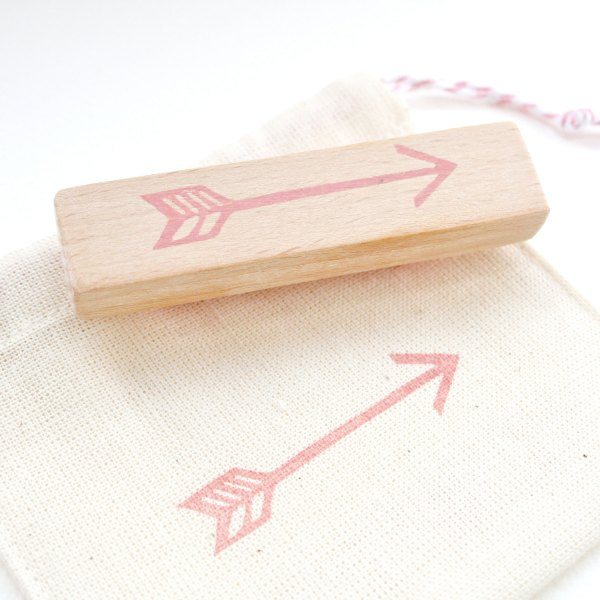 The Arrow Hand Carved Rubber Stamp at The Little Stamp Store Etsy Shop