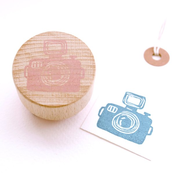 The Camera Hand Carved Stamp at The Little Stamp Store Etsy Shop