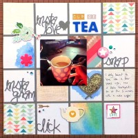 Media Pools Grid Layout - Cup Of Tea at Jennifer Grace Creates