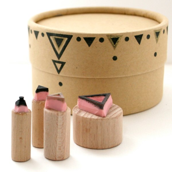 A Geometric Triangles Stamp Set at The Little Stamp Store