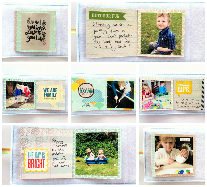 The Pocket Book Scrapbook - Stitched Mini Book at Jennifer Grace Creates