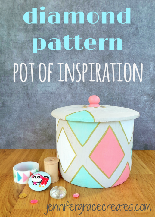 A Diamond Pattern Pot Of Inspiration at Jennifer Grace Creates