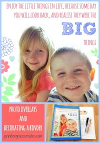'Enjoy The Little Things' Quote as Photo Overlay in PicMonkey and Decorating A Binder