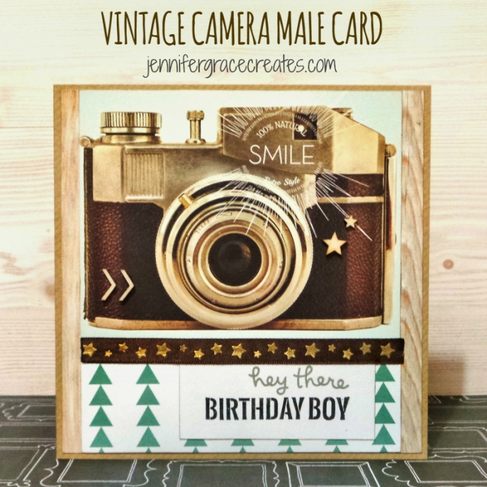 Vintage Camera Male Birthday Card at Jennifer Grace Creates