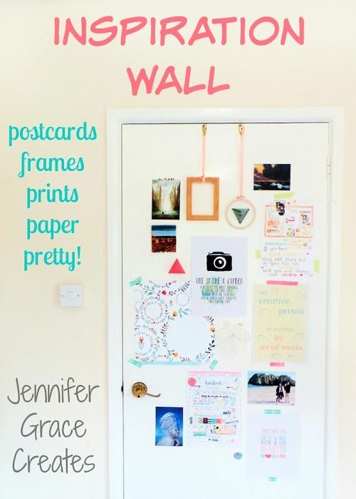 Make An Inspiration Wall at Jennifer Grace Creates
