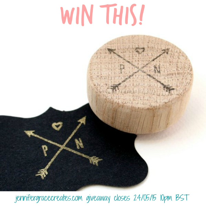 Win A Personalised Arrows Stamp from The Little Stamp Store Etsy Shop